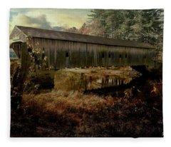 Hemlock Covered Bridge,fryburg Maine. Fleece Blanket