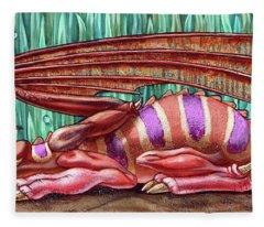 Herbal Dragon Fleece Blanket
