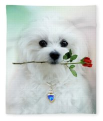 Hermes And Rose Fleece Blanket