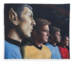 Heroes Of The Final Frontier Fleece Blanket