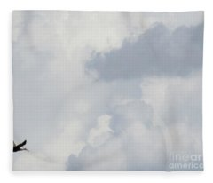 Crane In The Clouds Fleece Blanket