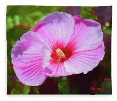 Hibiscus 81519 Fleece Blanket