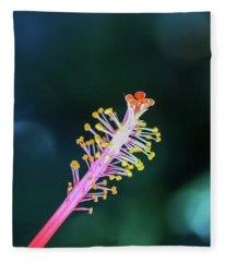 Hibiscus' Pistil Fleece Blanket