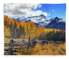 Fleece Blanket featuring the photograph High County Ablaze by Rick Furmanek