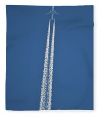 High Flight -- Emirates Air Boeing 777 Fleece Blanket