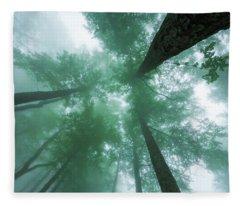 High In The Mist Fleece Blanket