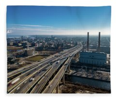 High-rise Bridge Fleece Blanket