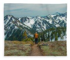 Hiking Toward Heaven Fleece Blanket