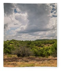 Hill Country Clouds Fleece Blanket