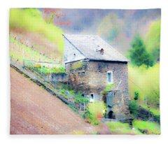 Hillside Cottage Fleece Blanket