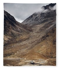Fleece Blanket featuring the photograph Himalayan Outpost by Whitney Goodey