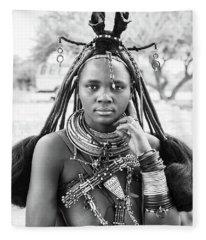 Himba Style Girl Fleece Blanket