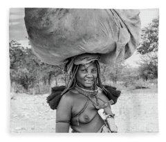 Himba Woman 2 Fleece Blanket