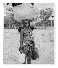 Himba Woman 3 Fleece Blanket