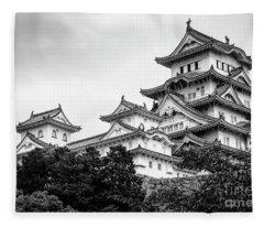 Feudal Japan Fleece Blankets