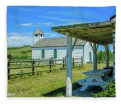 Historic Mcdougall Church, Morley, Alberta, Canada Fleece Blanket