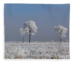 Hoar Frost At Bvg 2018-4 Fleece Blanket