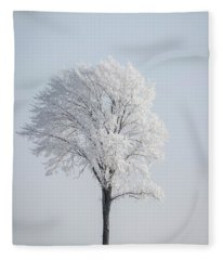 Hoar Frost At Bvg 2018-8 Fleece Blanket
