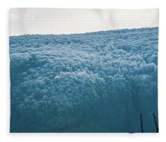 Hoarfrost Blue Mountain Fleece Blanket