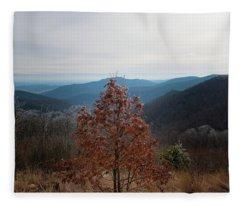 Hoarfrost On Fall Leaves Fleece Blanket