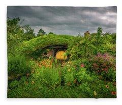 Hobbit Garden In Bloom Fleece Blanket