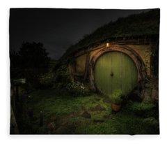Hobbiton At Night #1 Fleece Blanket