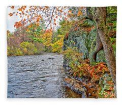 Hogback Dam Pool Fleece Blanket