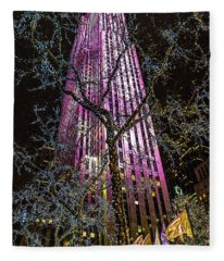 Holiday At 30 Rock Fleece Blanket