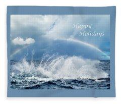 Holiday Card Resounding Joy Fleece Blanket