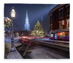 Holiday Magic, Market Square Fleece Blanket