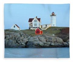 Holiday Nubble On The Rocks Fleece Blanket