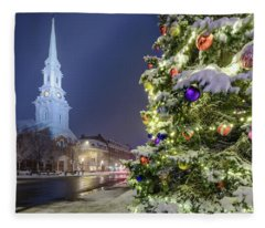 Holiday Snow, Market Square Fleece Blanket