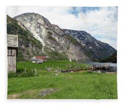 Holmaviki, Norway Fleece Blanket