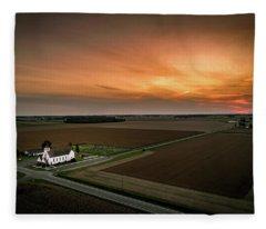Holy Sunset Fleece Blanket