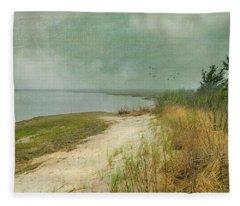 Home By The Sea Fleece Blanket