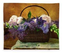 Home Grown Floral Bouquet Fleece Blanket