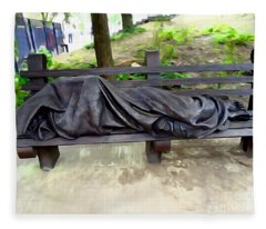 Homeless Jesus Fleece Blanket