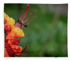 Honey Bee Extraction Fleece Blanket