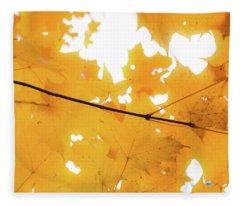 Honey Colored Happiness Fleece Blanket