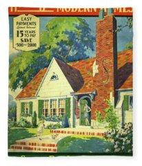 Honor Bilt Modern Homes Sears Roebuck And Co 1930 Fleece Blanket