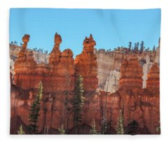 Hoodoos Along The Peek-a-boo Loop Fleece Blanket