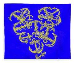 Hook Line And Sinker Fleece Blanket