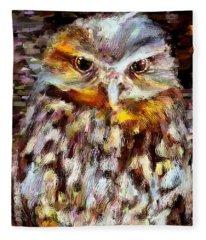 Hoot Artwork Fleece Blanket