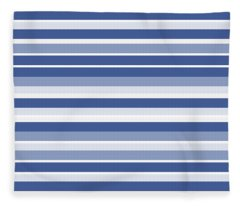 Horizontal Lines Background - Dde607 Fleece Blanket