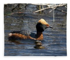Horned Grebe 102713 Fleece Blanket