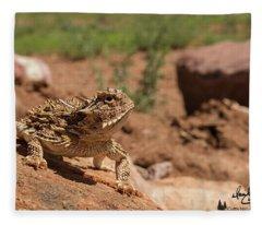 Horned Lizard Fleece Blanket
