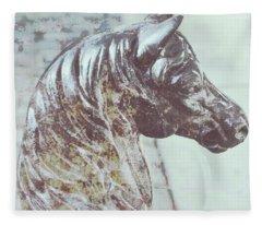 Horse Hitch Spatter Fleece Blanket