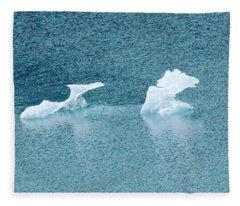 Horse Ice Sculpture Fleece Blanket