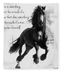 Horse's Profound Spirit  Fleece Blanket