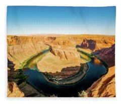 Horseshoe Bend Fleece Blanket